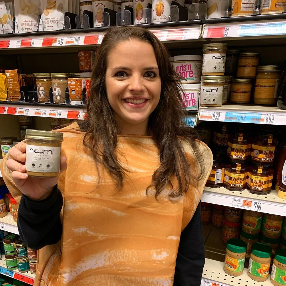Krystina Murawski at Brooklyn Wegmans for Noomi peanut butter launch