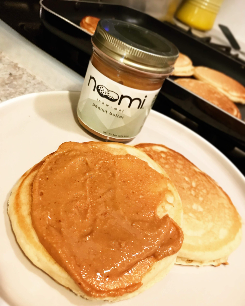 Pancakes with Noomi peanut butter