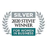 Silver Stevie Awards logo for 2020 Stevie Awards for Women in Business