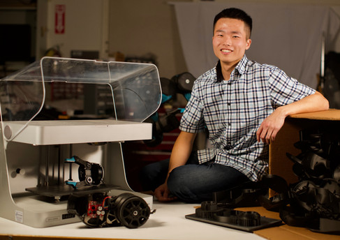 Meng with printer