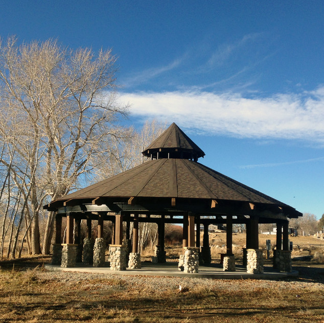 Gazebo at Two Rivers , residential and commercial neighborhood.