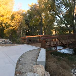 Pedestrian bridge at Two Rivers.
