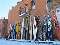 Kayak Art Wall in Salida, Colorado