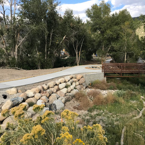 Walking paths in Two Rivers Commons, Salida, Colorado.