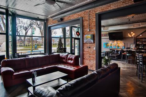 Boathouse lounge on the riverbanks in Salida, Colorado.