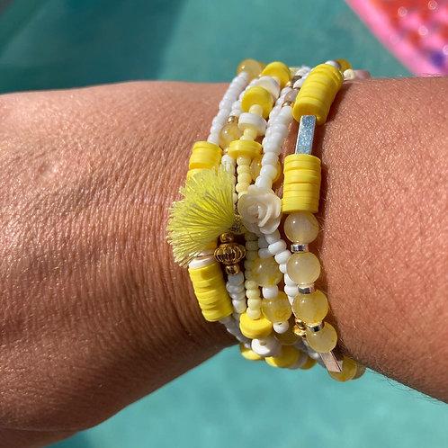 Bracelets jaunes