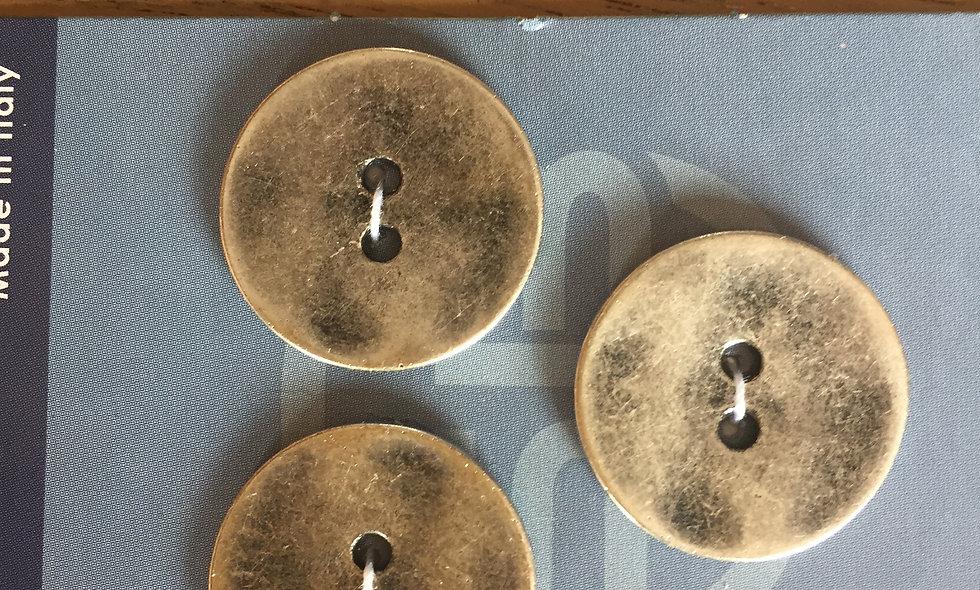 Bouton argenté 20,5 mm