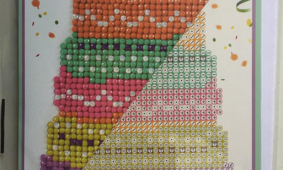 Carte de voeux Diamond Dots