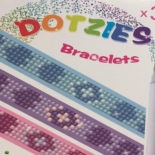 3 bracelets Diamond Dots