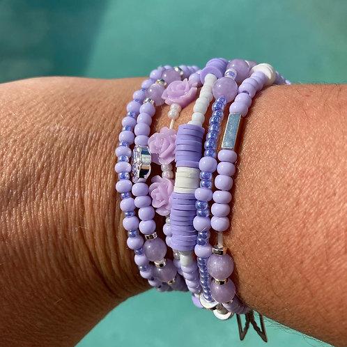 Bracelets mauve