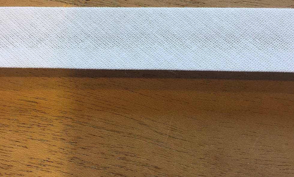 Biais 18 mm - blanc