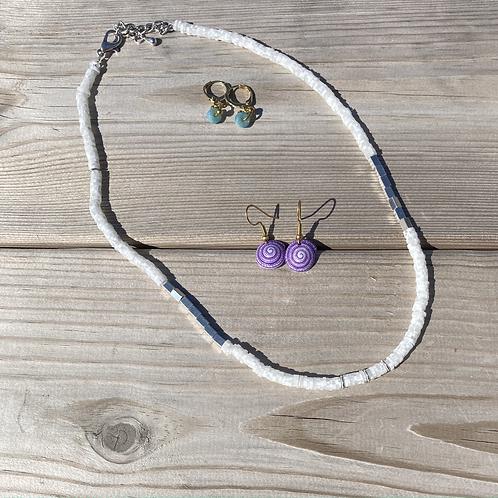 Collier perles Heishi