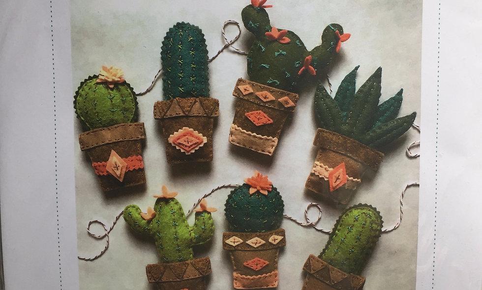 Kit feutrine guirlande de cactus