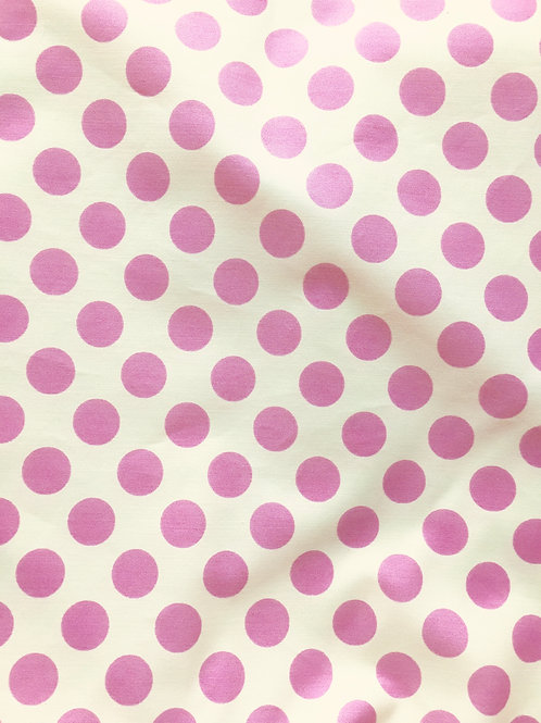 Tissu à pois  15 mm - rose