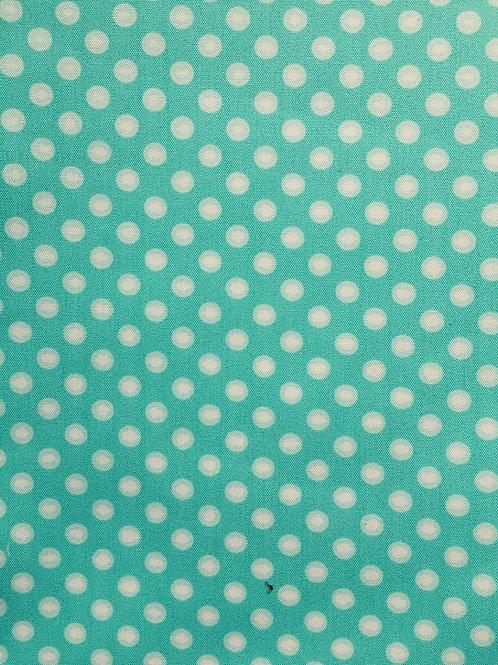 Tissu à pois 7mm - vert d'eau