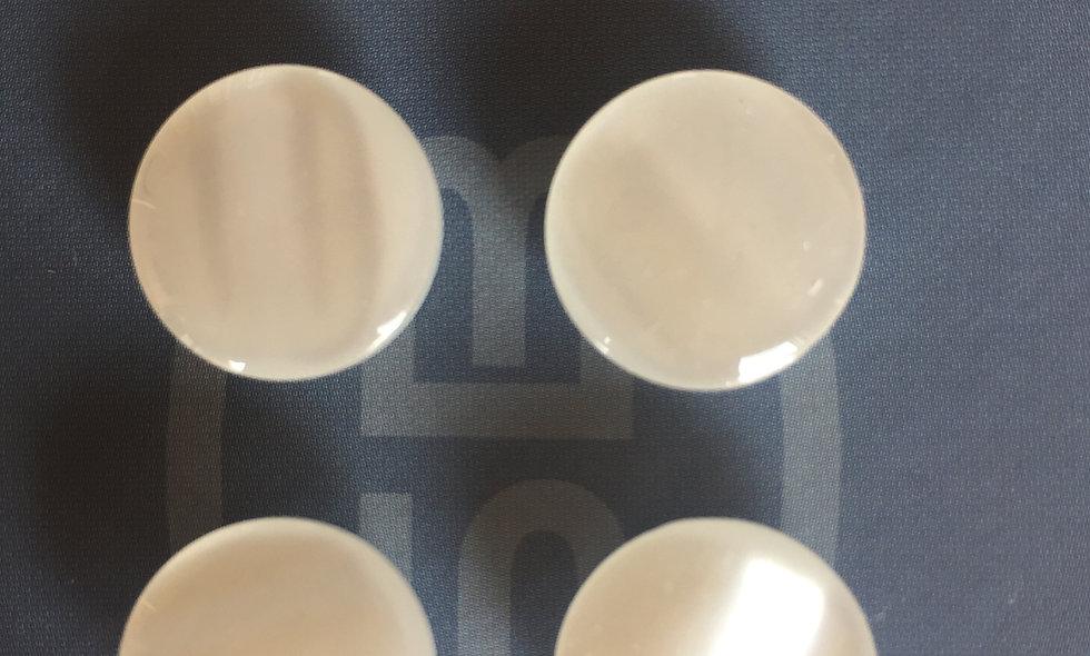 Bouton blanc 15 mm