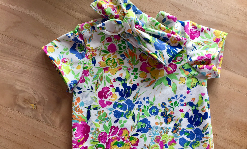 Jersey à fleurs