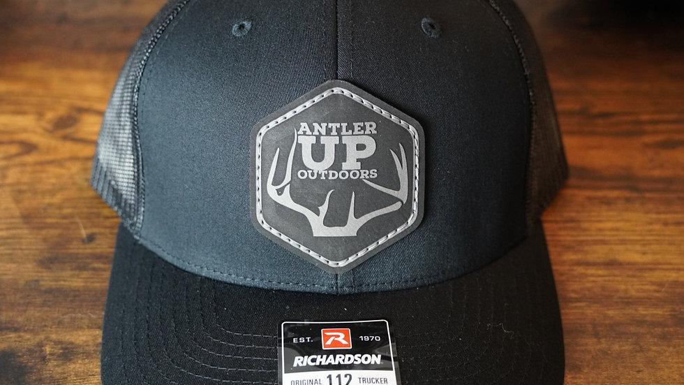 Antler Up Black/Black Hat