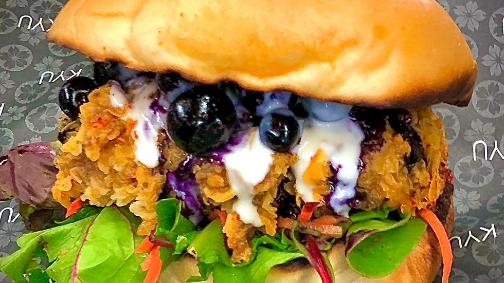 """Le Burger Week """"Spicy BlueBerry Panang Crunch"""""""