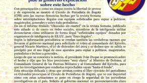 CPB rechaza chuzadas a periodistas en Colombia