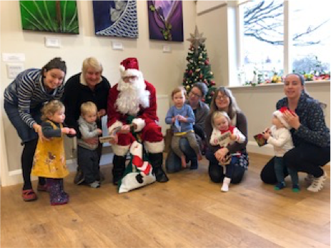 We jingled all the way through this class full of Christmas merriment!  When we came out from under the parachute, what did who did we se...?  Thank you for your visit Santa!