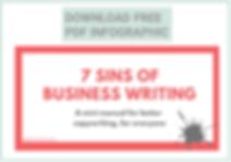 7 sins business writing