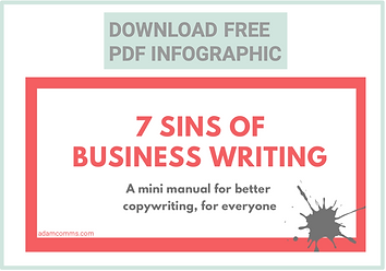 7 sins business writing