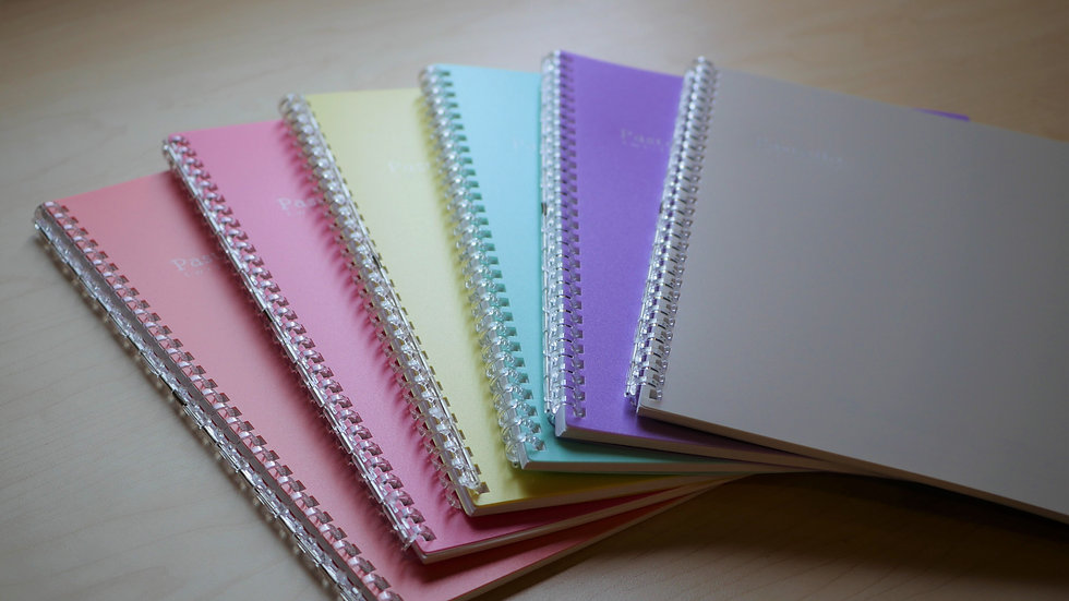 Lihit Lab Pastello Twist Ring Refillable Notebook - Lined (B5)