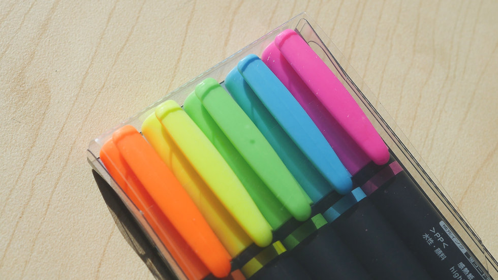 Tombow Top Coat Highlighter Neon Pack (5ct)