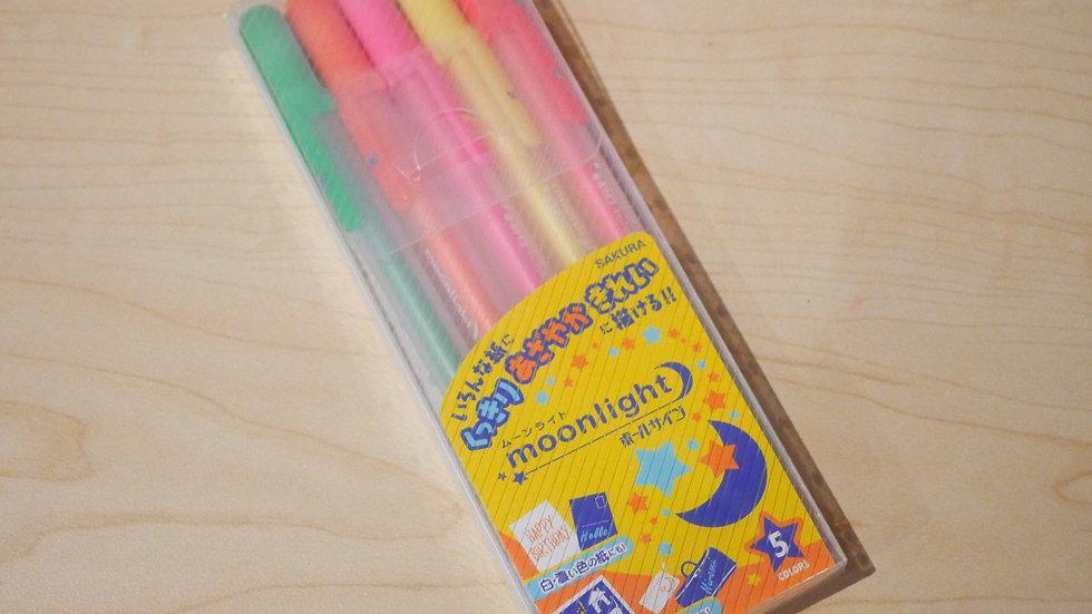 Sakura Gelly Roll Moonlight Neon Gel Pen Set (1mm)