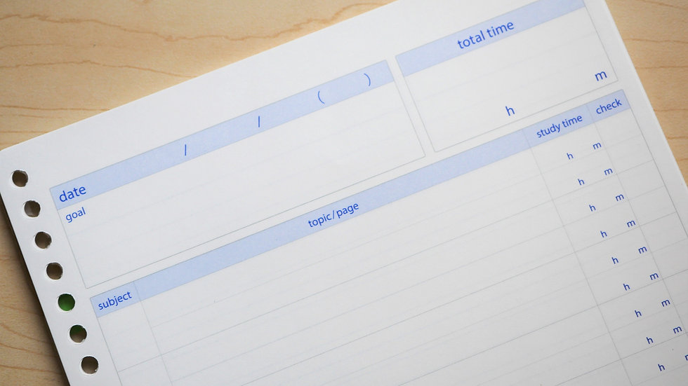 Kokuyo Campus Study Planner Refill Paper (B5)