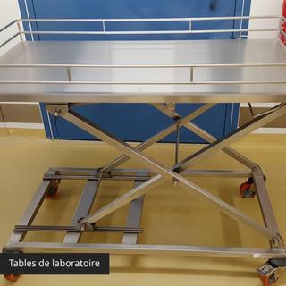 Tables de laboratoire