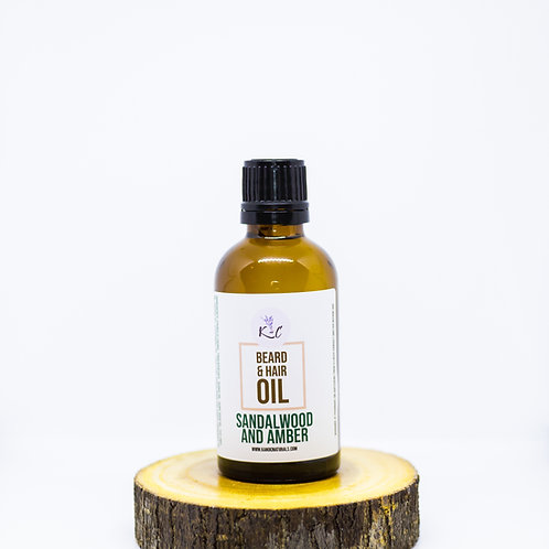 Sandalwood and Amber Beard Oil