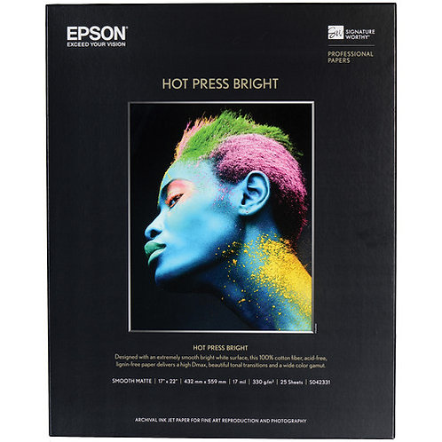 Epson Hot Press Bright or Natural