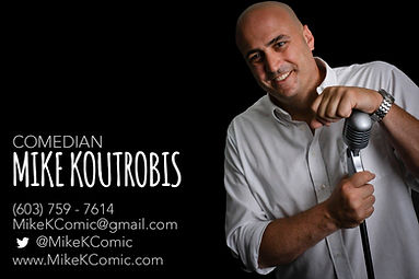 Comedian Boston Comedy Standup Mike Koutrobis