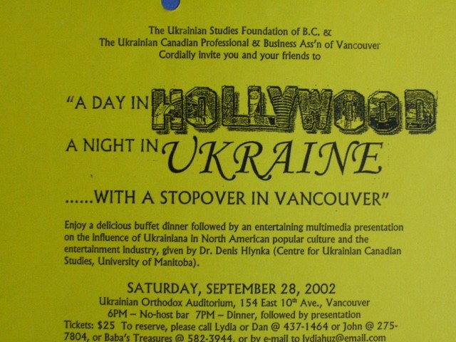 A day in Hollywood, Night in Ukraine