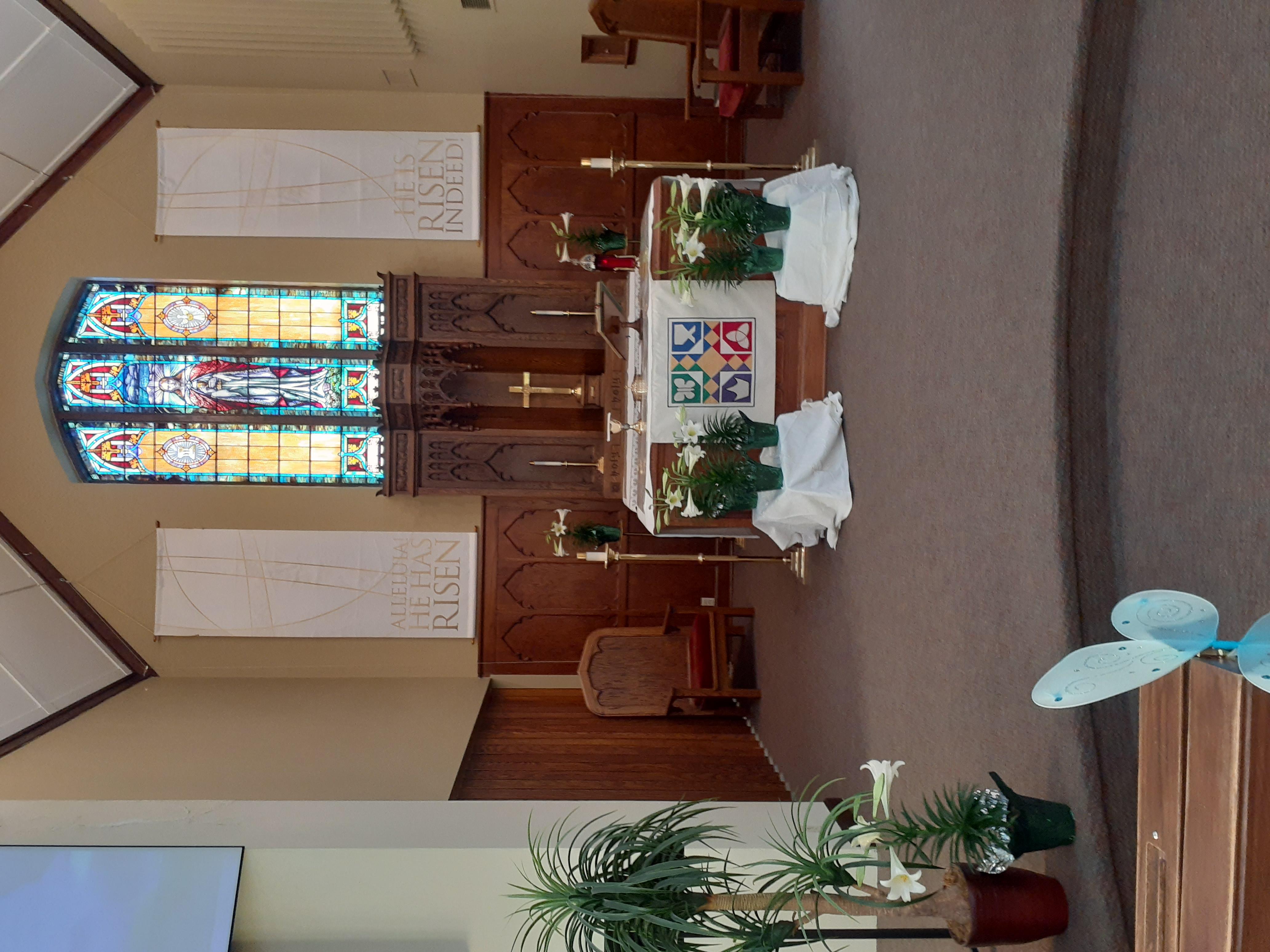 Worship decor Easter 2