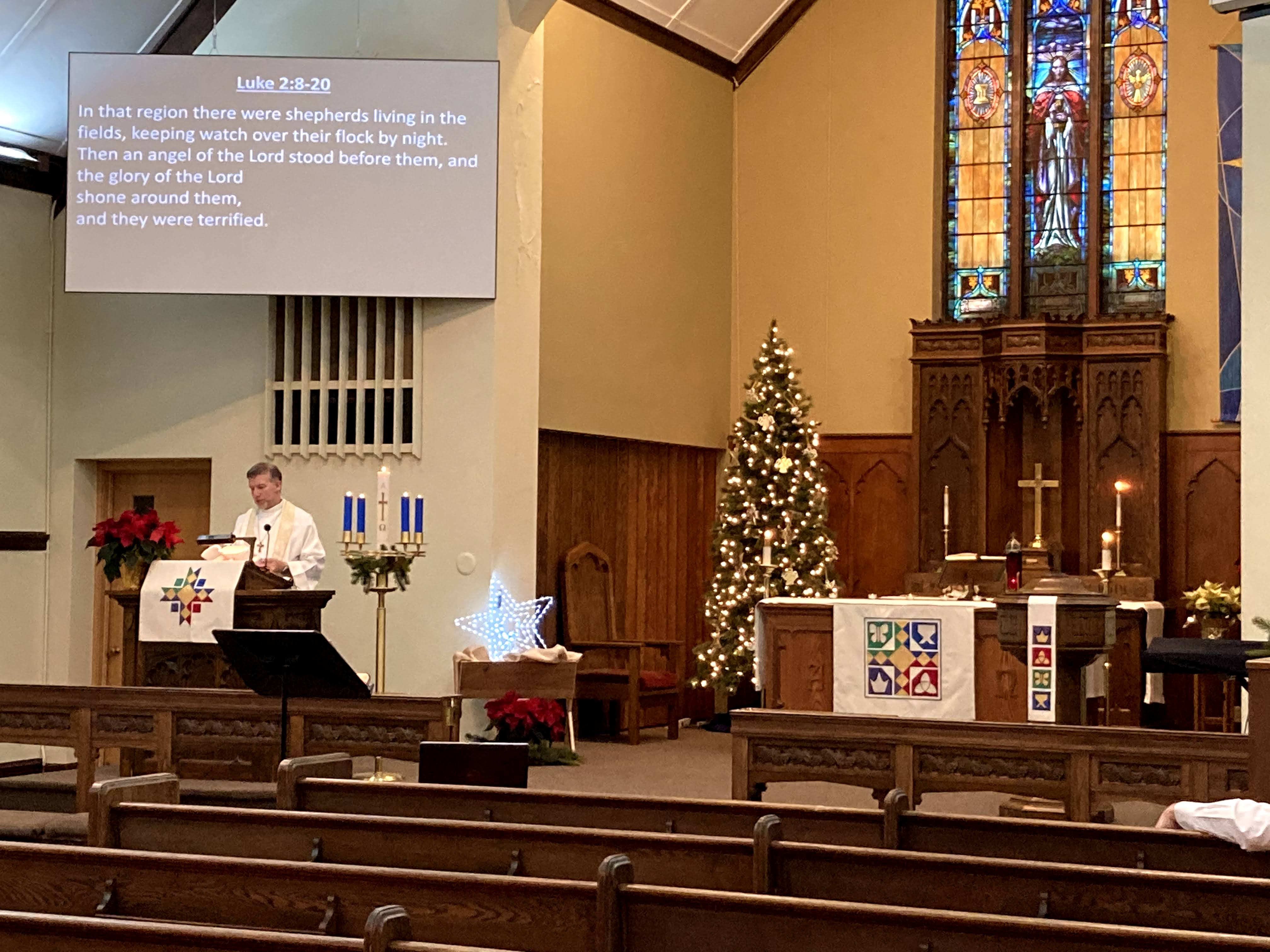 Christmas Eve Worship Service at church