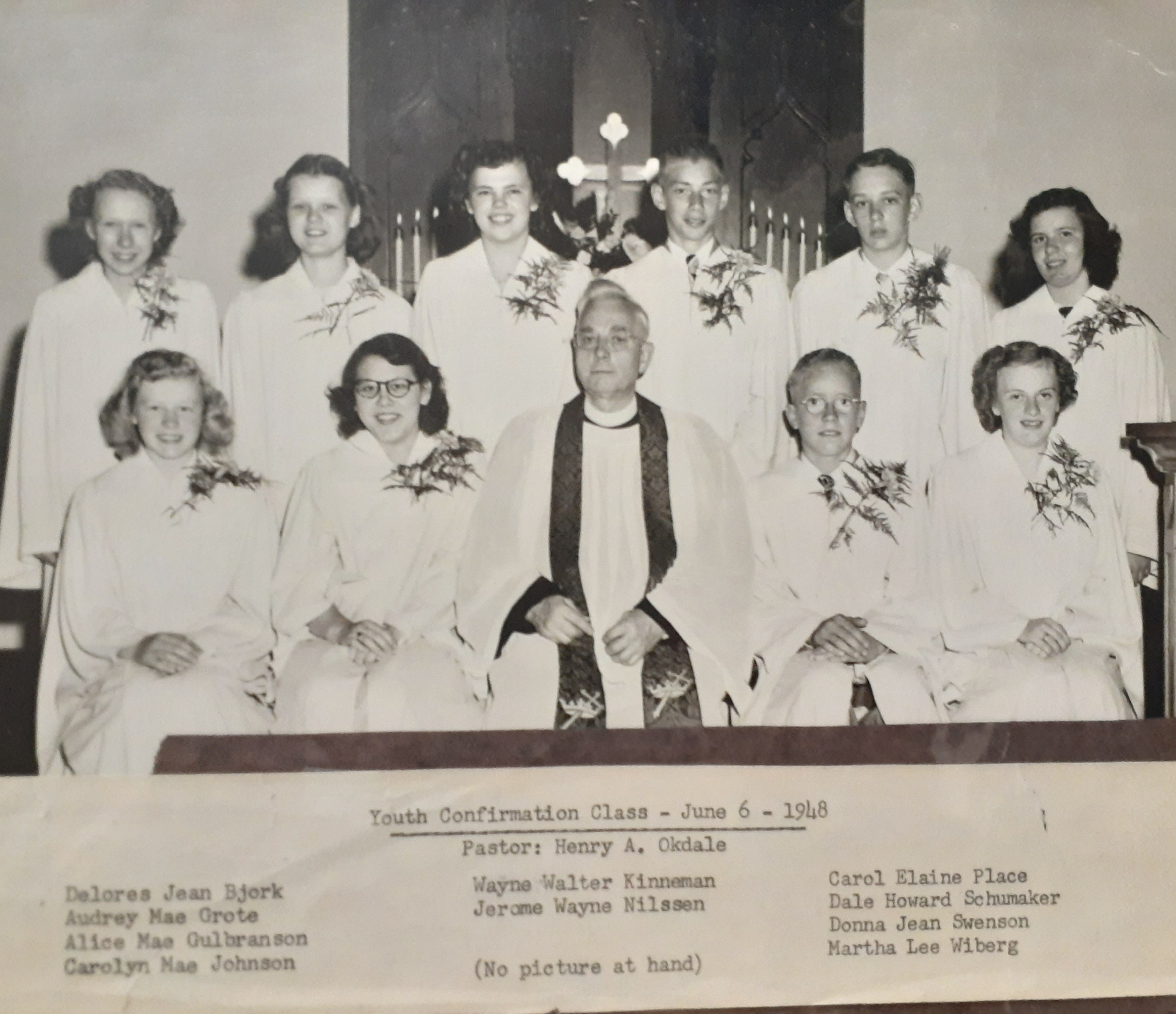 Confirmation pic 1948