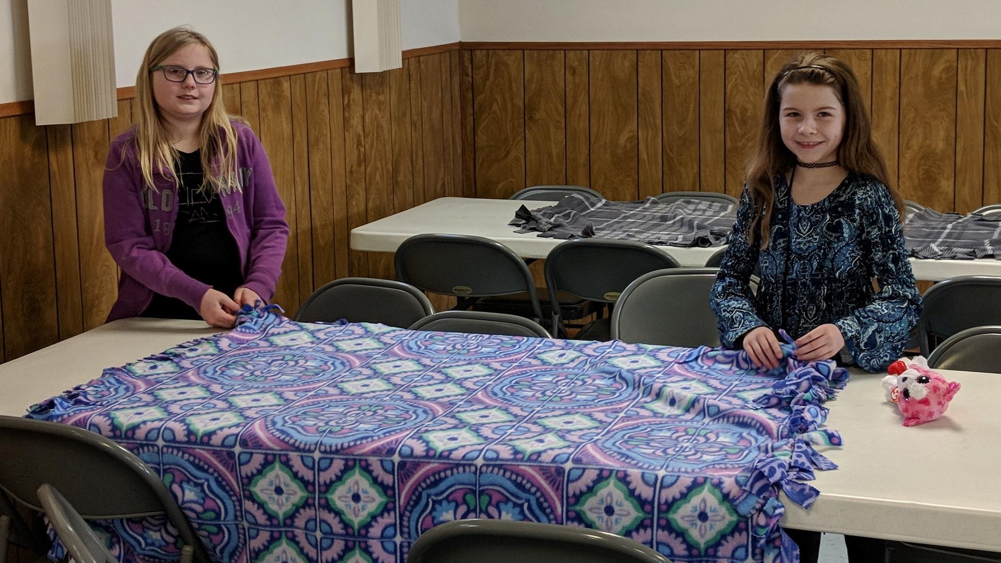 tying prayer blankets