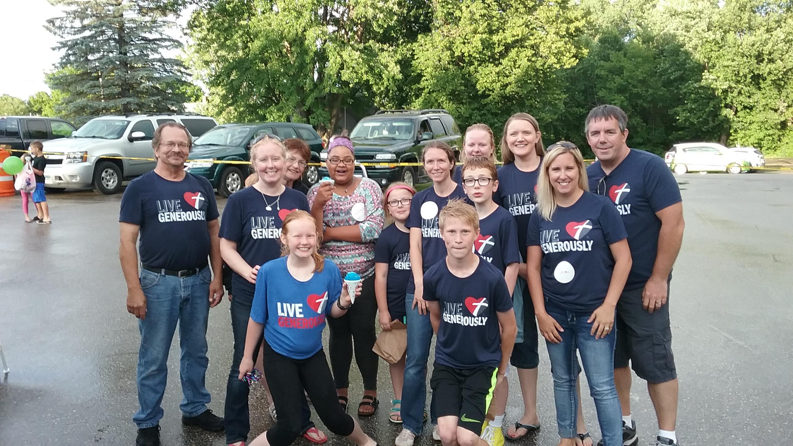 volunteers at VBS