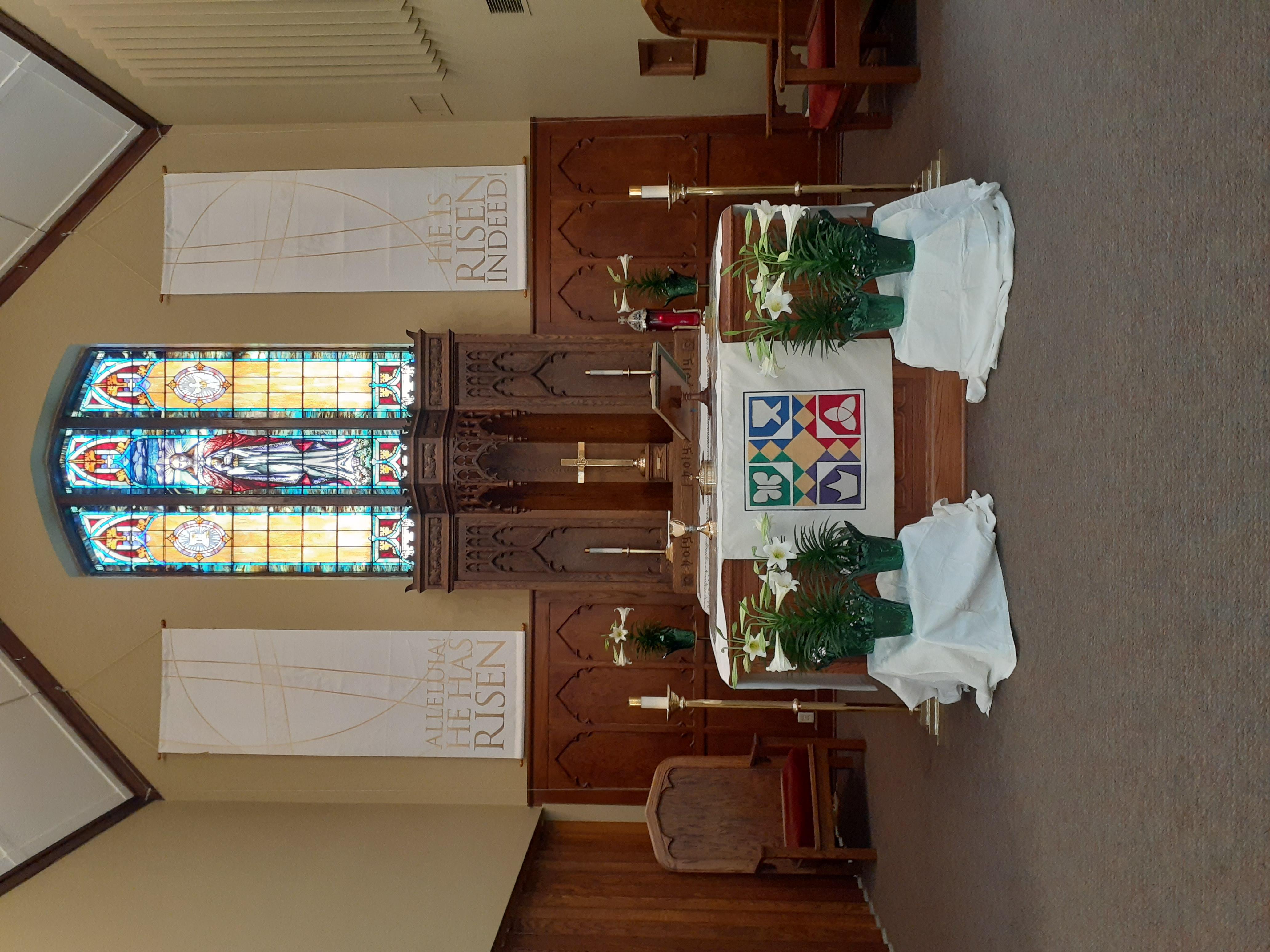 Worship decor Easter 3