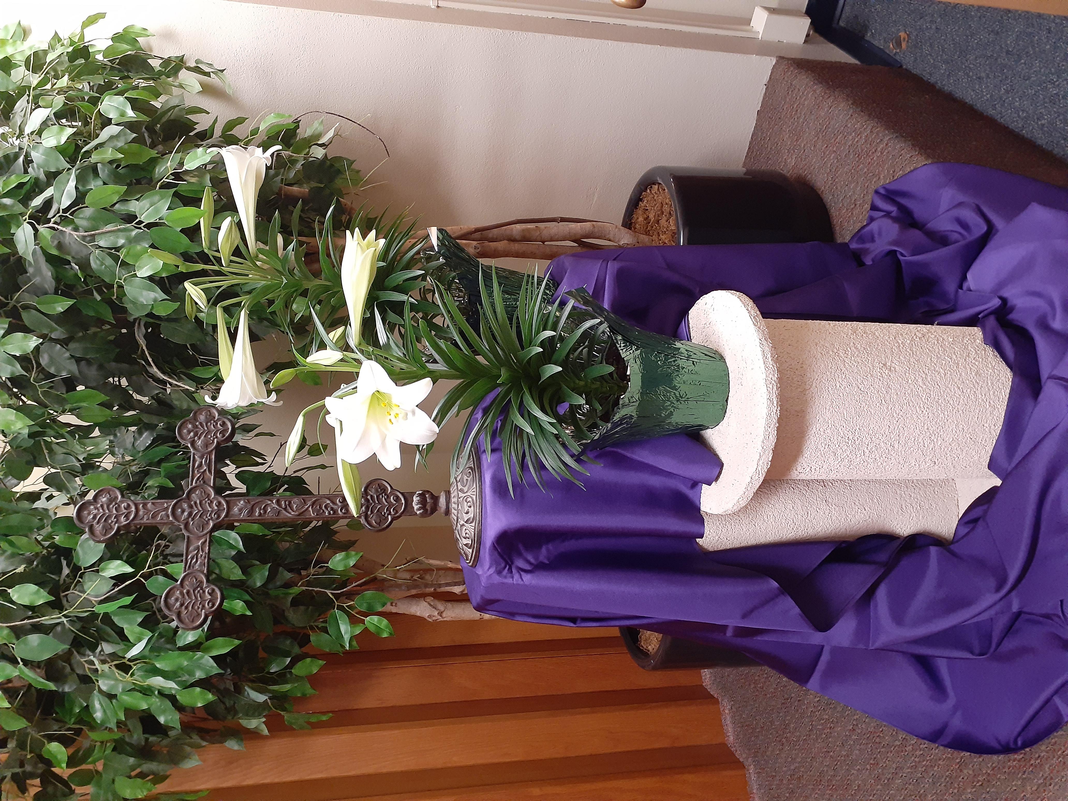 Worship decor Easter