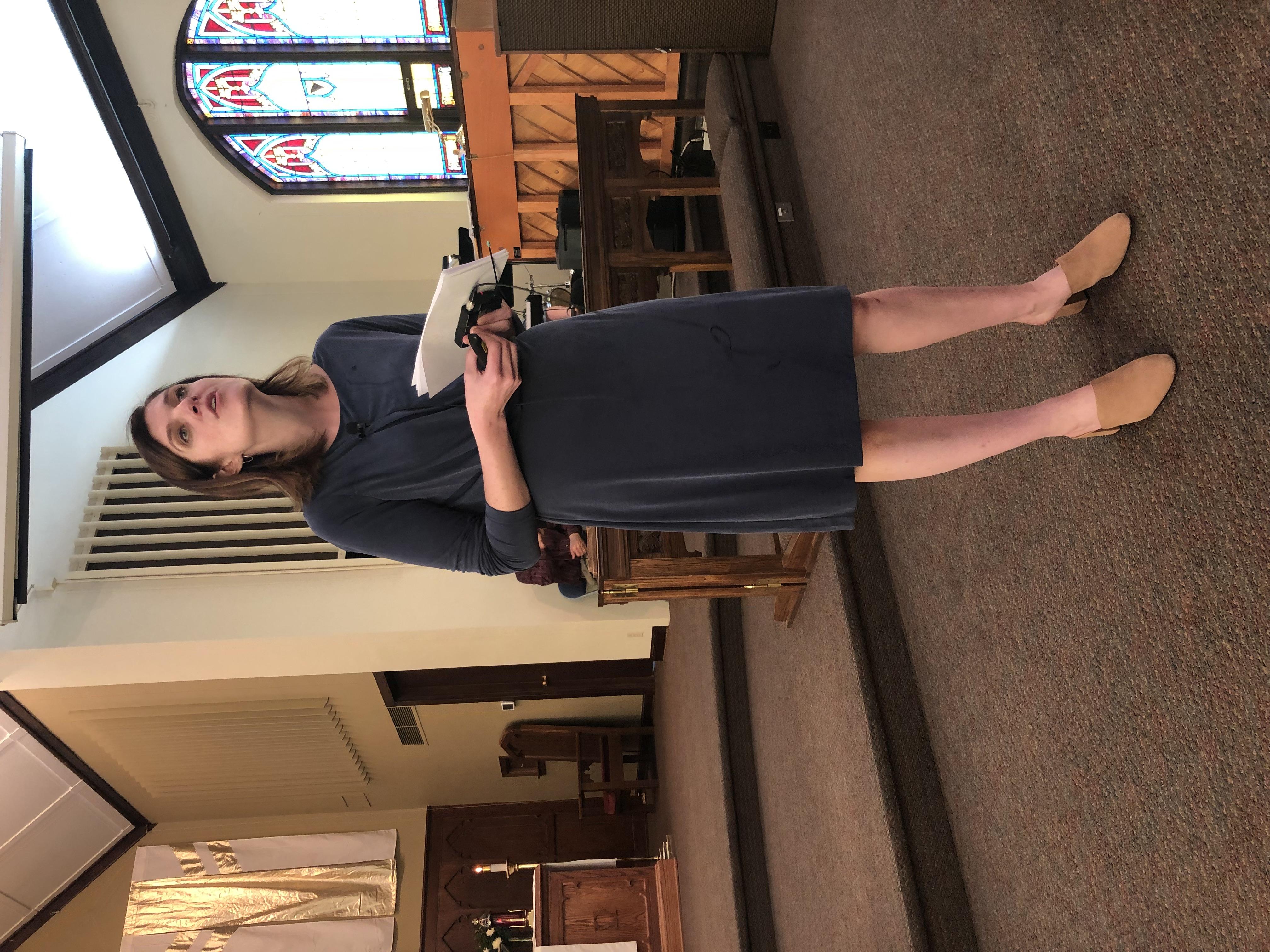 Pastor Erin Nelson Preaching