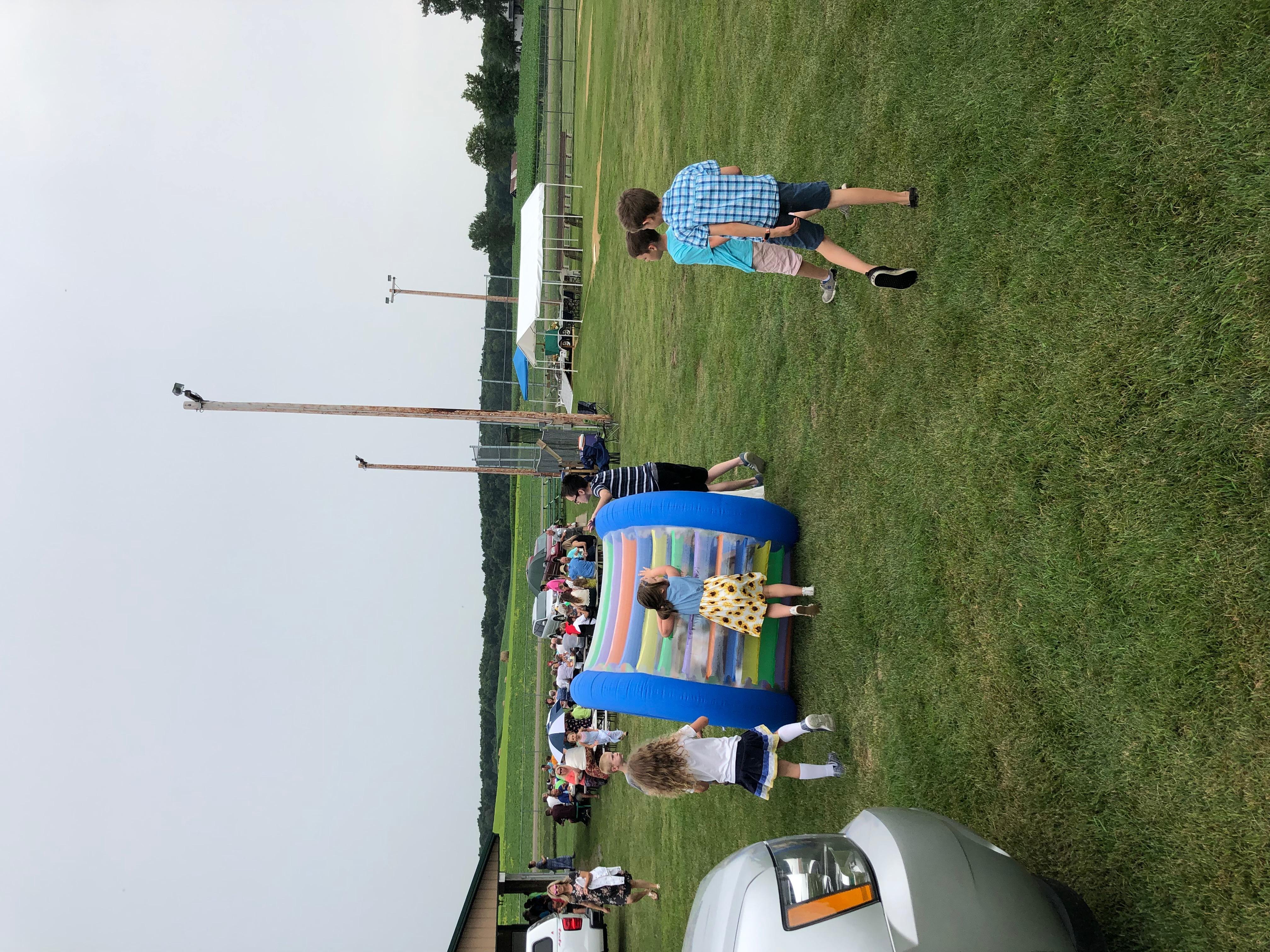 outdoor worship kids playing 2