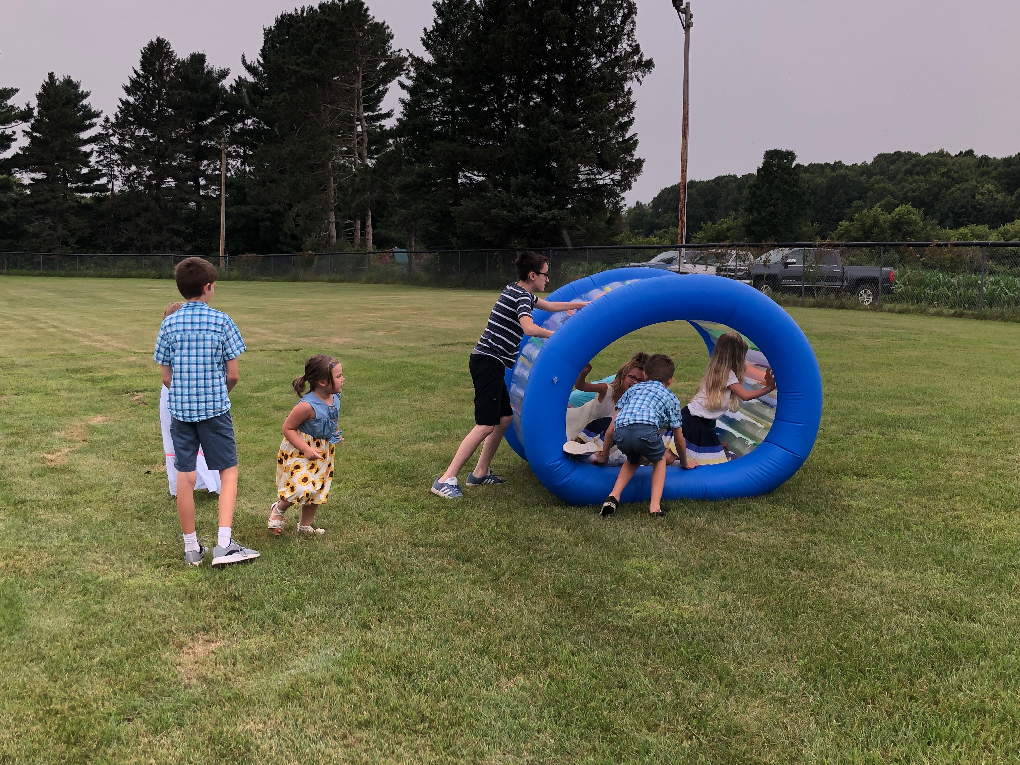 outdoor worship kids playing