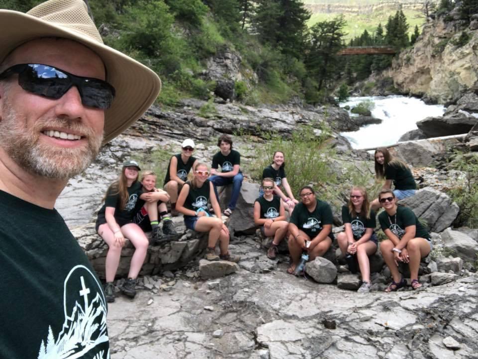 group in mountains christikon