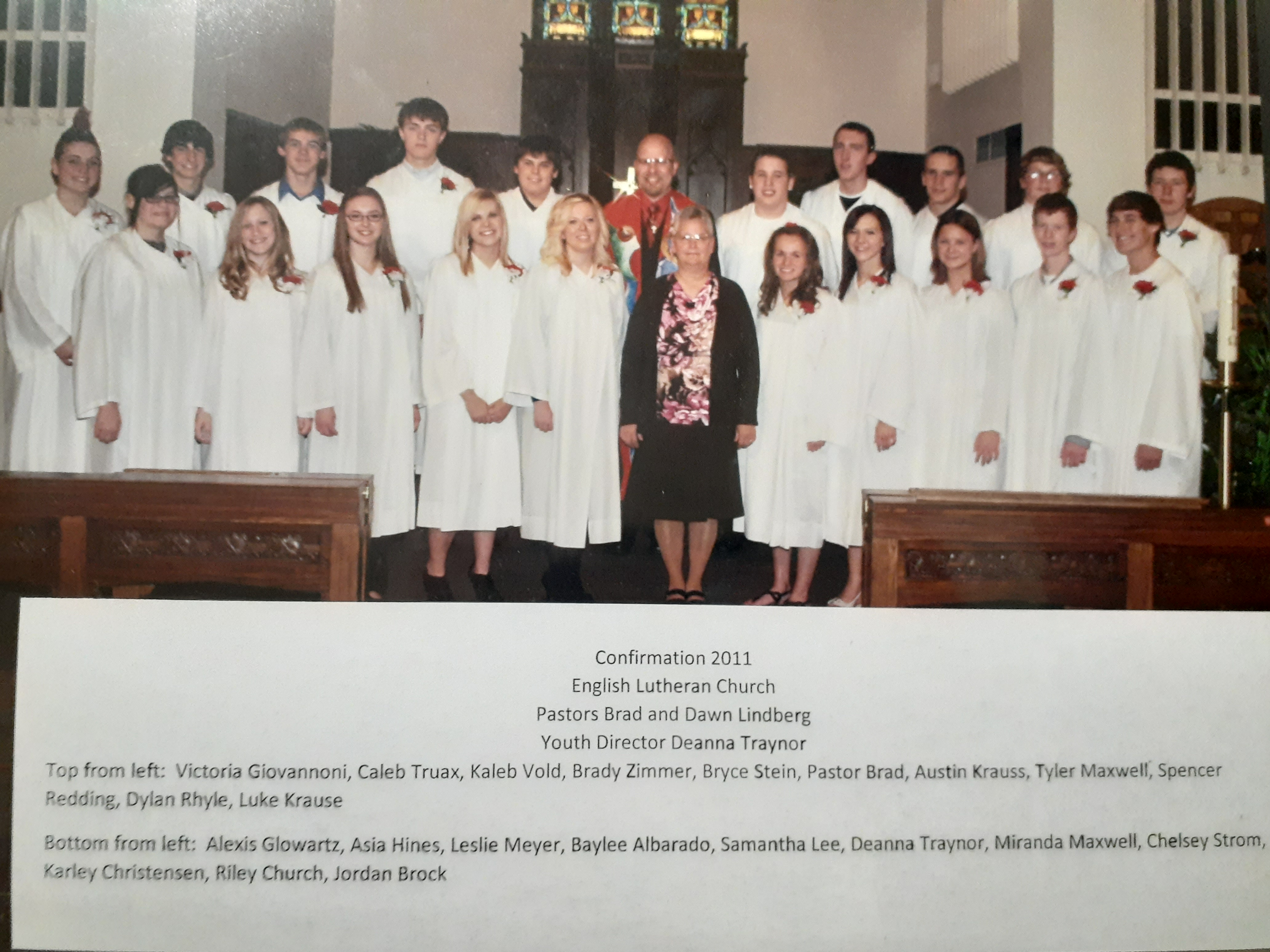 confirmation pic 2011