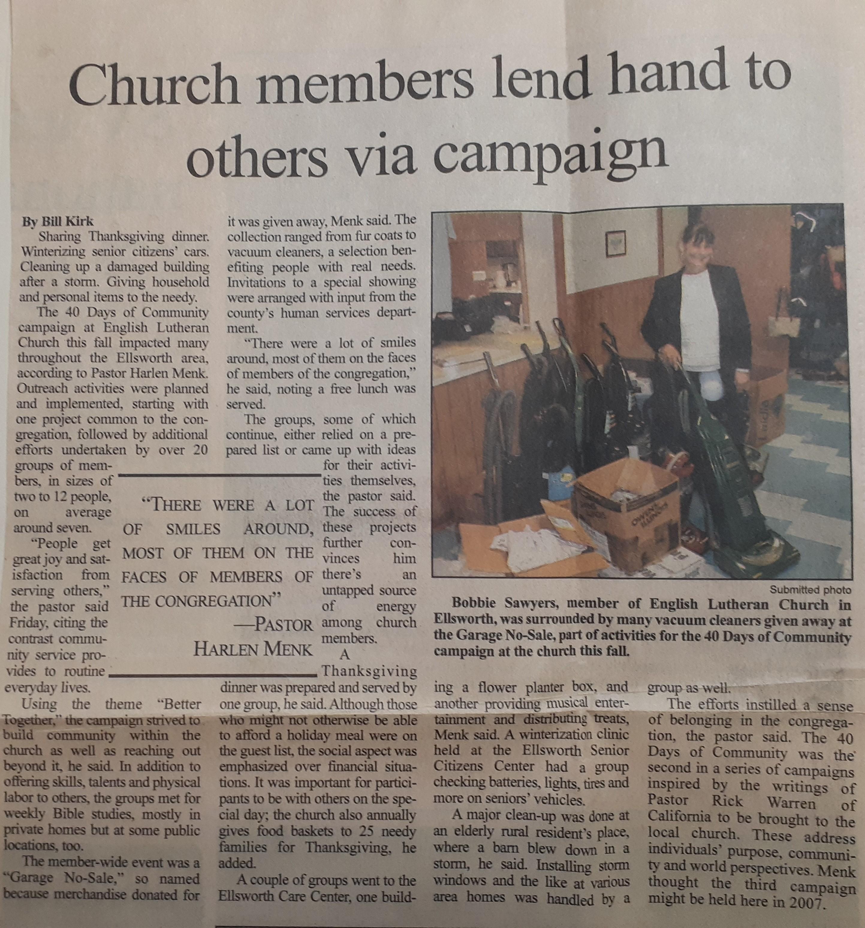 2005 newspaper article community 1