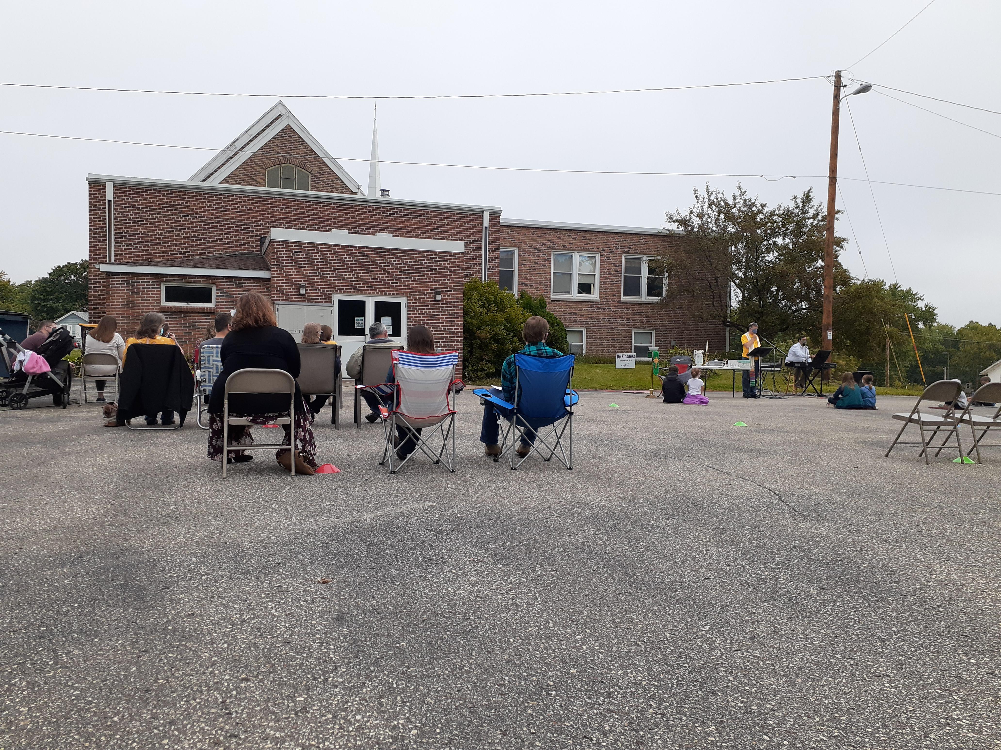 outdoor worship childrens sermon